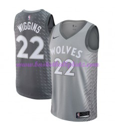 Minnesota Timberwolves Trikot Herren 2018-19 Andrew Wiggins 22# City Edition Basketball Trikots NBA ..